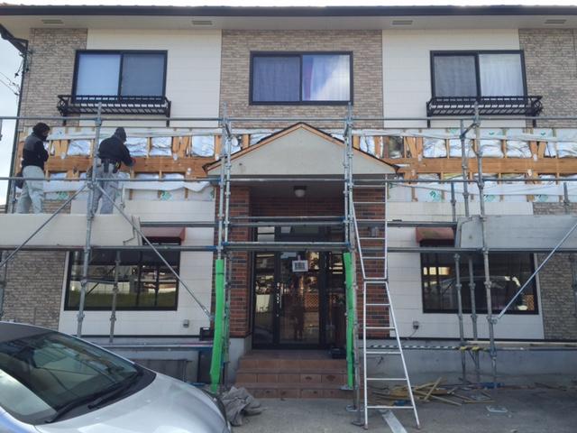 外壁工事の写真